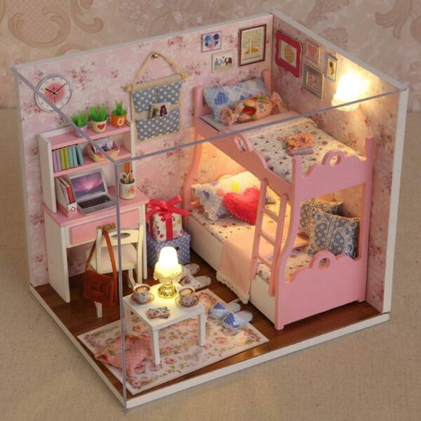 Pink Bedroom DIY Mini House