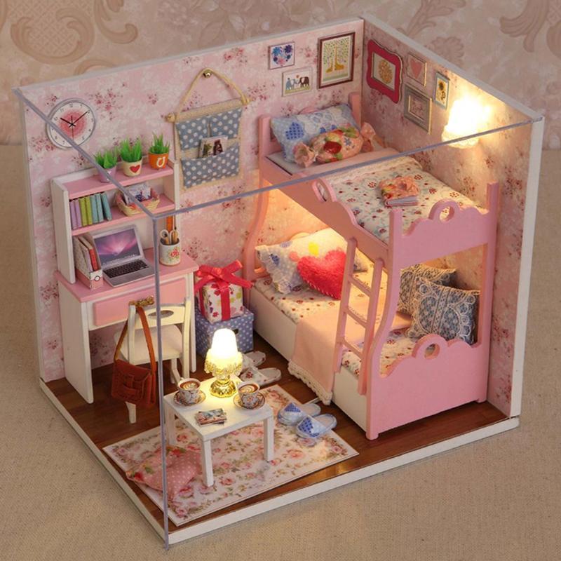 Pink Bedroom DIY Mini House