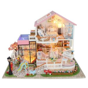 Heaven Light DIY Sweet Wooden Miniature Dollhouse