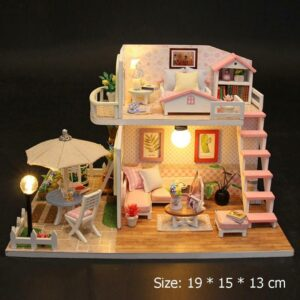 Wood Flash Loft Hut DIY Miniature House