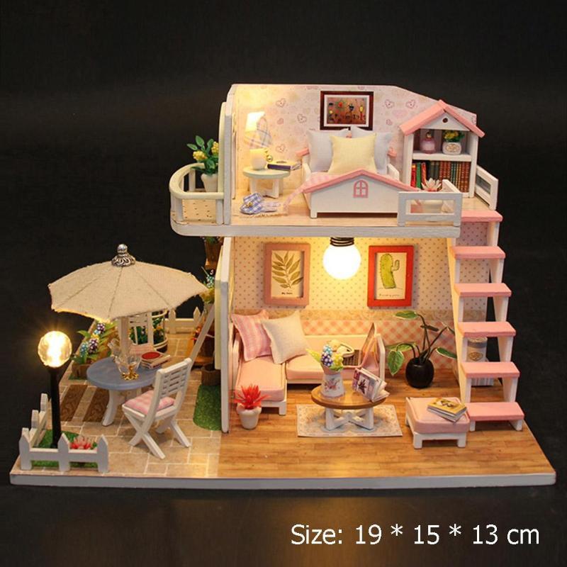 Wood Flash Loft HutDIY Miniature House