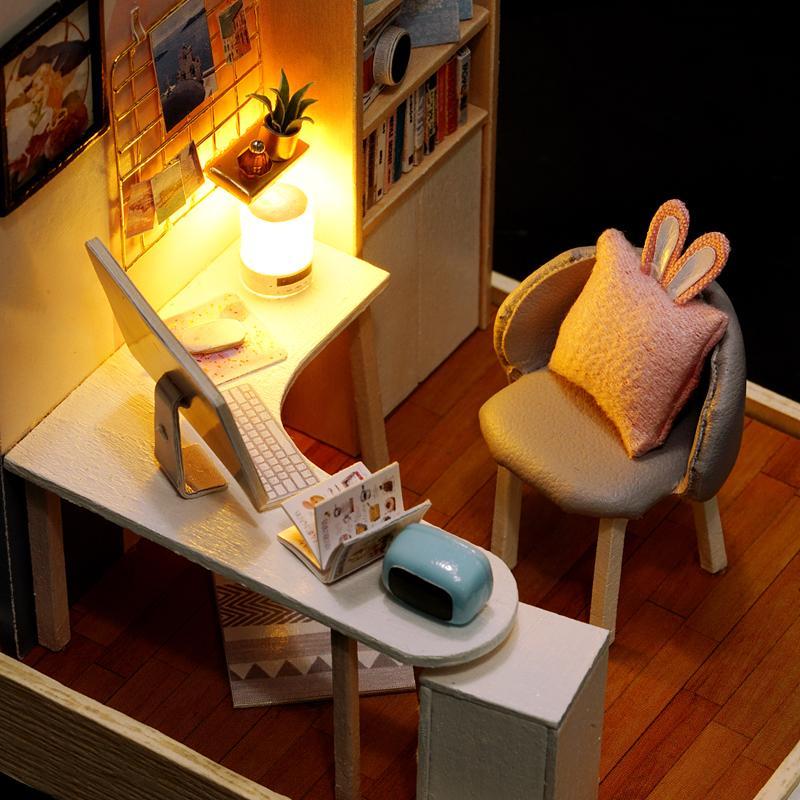 Mini Study Room Set DIY Miniature Room Kit