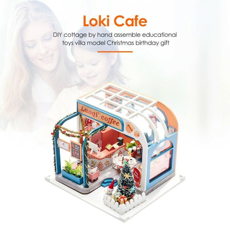Luoqi Coffee DIY Miniature Dollhouse