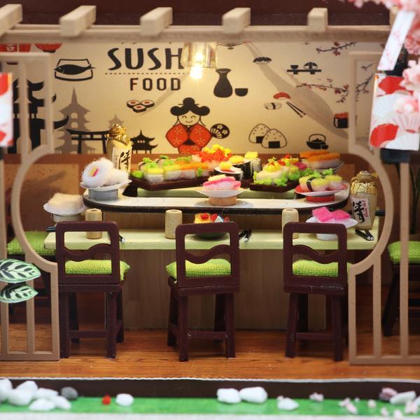 1d528dcdd57eb31a54f34fae81a24c6bGibbon Sushi DIY Miniature Dollhouse Kit