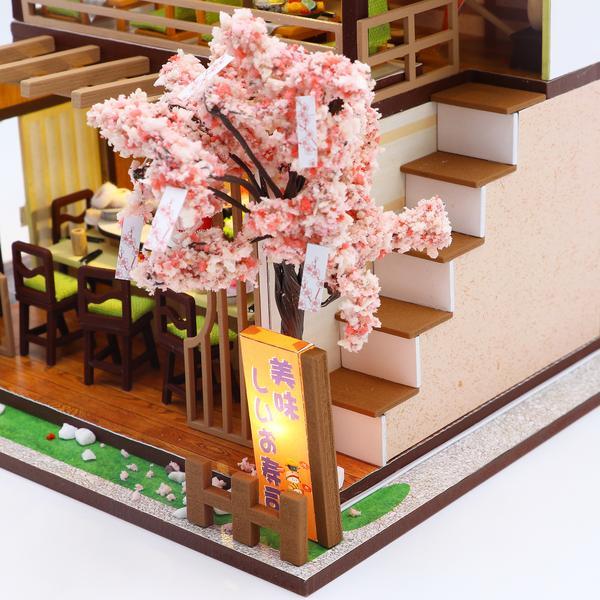 3568123f108061a678bbde0ad18ae69fGibbon Sushi DIY Miniature Dollhouse Kit
