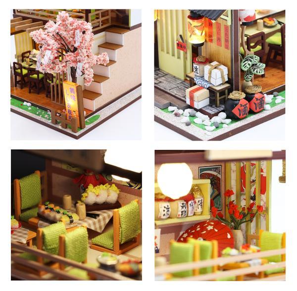 37b8041d2978acda92e01a7e497a651cGibbon Sushi DIY Miniature Dollhouse Kit