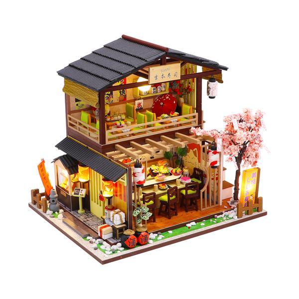 60b13f96a439907b53db9e04f252dd0cGibbon Sushi DIY Miniature Dollhouse Kit