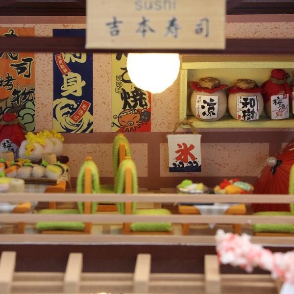 63d708e8074fb97681ccc57632807394Gibbon Sushi DIY Miniature Dollhouse Kit