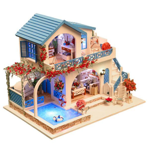 Blue and White Town DIY DollhouseTB18ZlxbEzrK1RjSspmq6AOdFXab 600x600 1