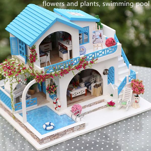 Blue and White Town DIY DollhouseTB1Blue and White Town DIY DollhouseUBobzzuK1Rjy0Fpq6yEpFXaa 600x600 1