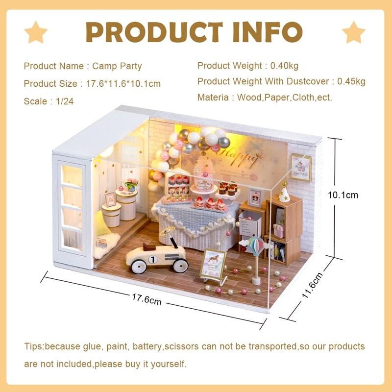 Camp Party DIY Miniature Room Kit QT10Ad6f35fcd76004986bf867b125615d75eQ