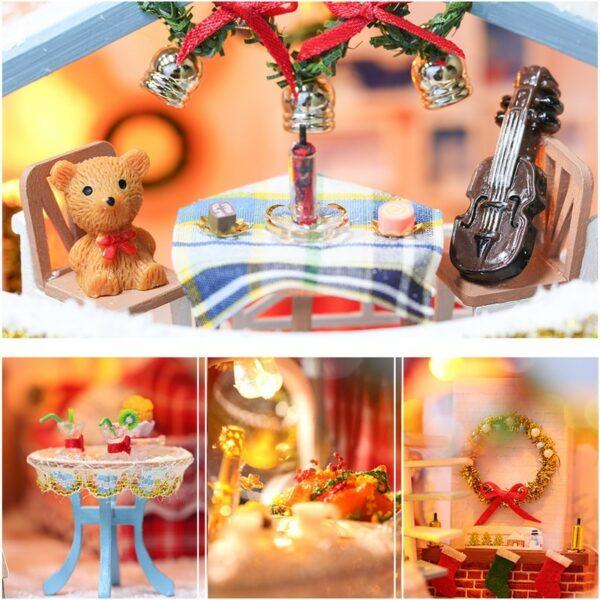 Christmas Snowy Night DIY Miniature House Kit44d787d23be64748a222624db344b007T