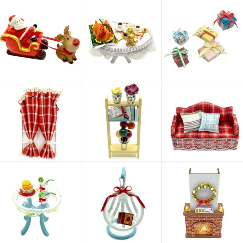 Christmas Snowy Night DIY Miniature House Kit621b2f9f8265428cae48f78d9ac57feac