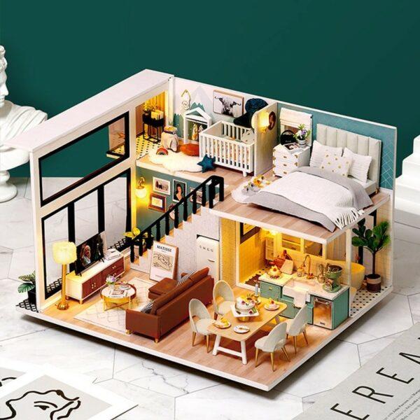 Comfortable Life DIY Miniature Loft Kit L31Ac077e45734e7466c8e4f9256d6c1a433G