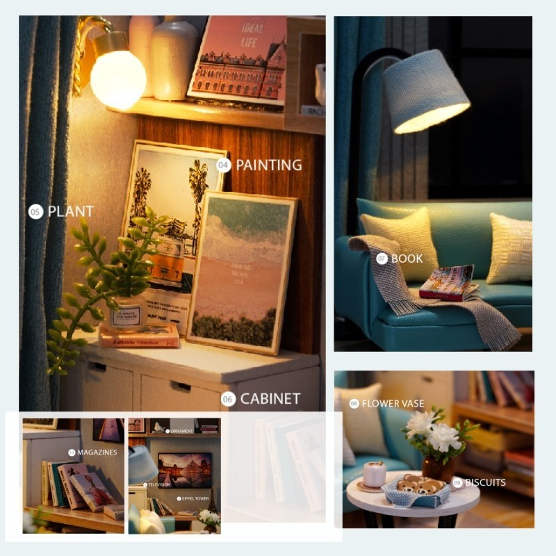 Corner of Living Room DIY Miniature Room Kit H18