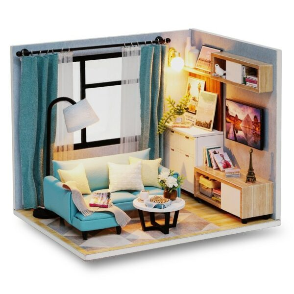 Corner of Living Room DIY Miniature Room Kit H18 ATB1aY 3bijrK1RjSsplq6xCorner of Living Room DIY Miniature Room Kit H18 AmVXaF
