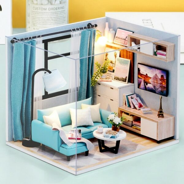 Corner of Living Room DIY Miniature Room Kit H18 ATB1ieRYbsnrK1RkCorner of Living Room DIY Miniature Room Kit H18