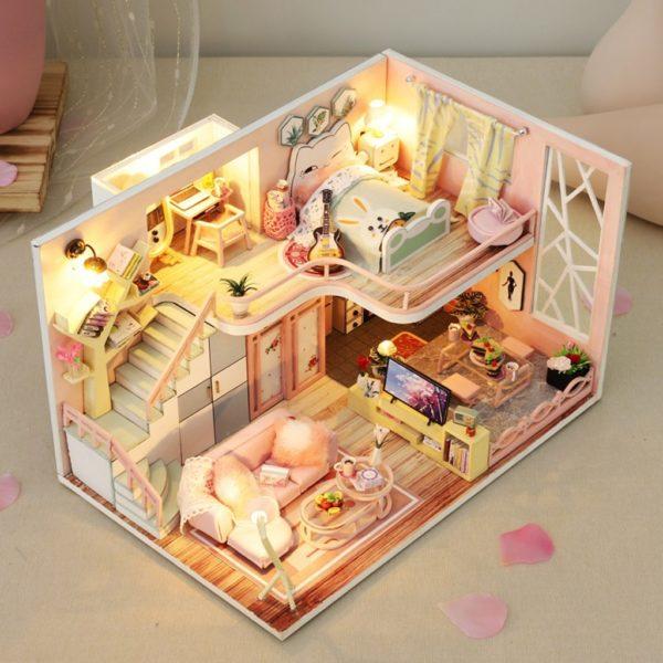 From Lily With Love DIY Miniature Dollhouse Kit79034477f6b845cdb2f694254f74a50aD 600x600 1