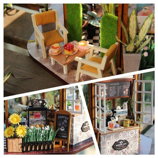 Garden Cafe DIY Miniature Kit GD01A687c629d6bcc49aaa9c641ecb583c38b2