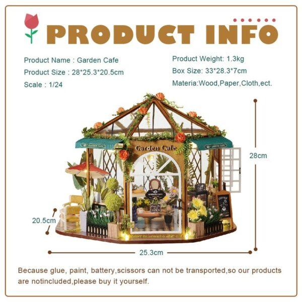 Garden Cafe DIY Miniature Kit GD01A7254dcf261264576814500cfb6eaedd5a 1