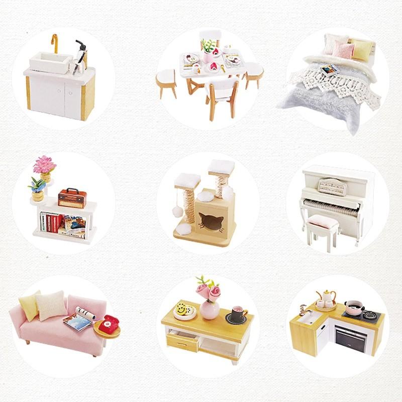 Glaze Time DIY Miniature Villa Kit L2001A017ecfb54bfb4fc0a2e05a5d9fa64e414