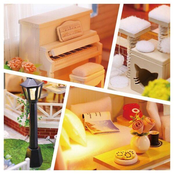 Glaze Time DIY Miniature Villa Kit L2001A304097a04d1247bdabb7976742af3613V