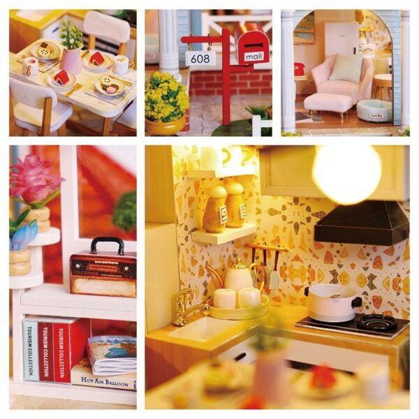 Glaze Time DIY Miniature Villa Kit L2001A7637c264293140f1bc3cce75844e092bZ
