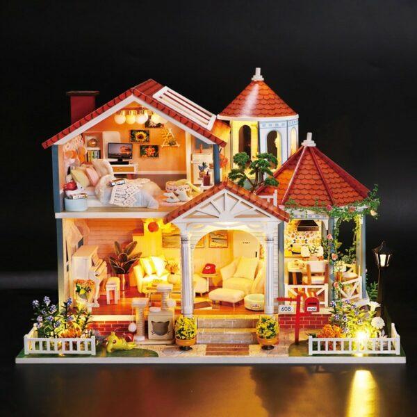 Glaze Time DIY Miniature Villa Kit L2001A928a878bb38a4a32abc6b9075de16377X
