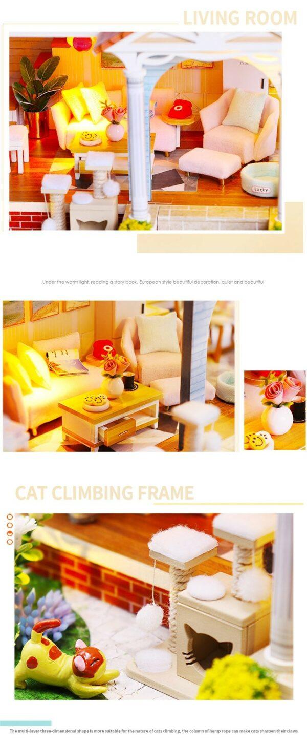 Glaze Time DIY Miniature Villa Kit L2001Ad79d3ef848ee4d0d9e9cd464ad4f050cN
