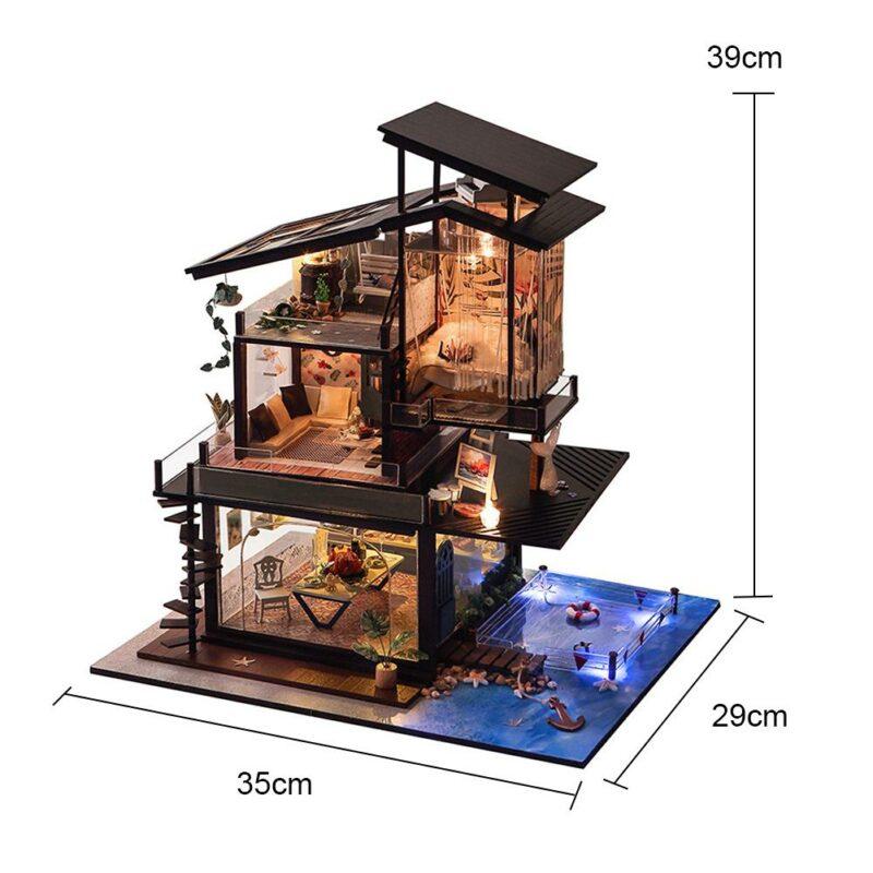 H06779e40efa44d7bbbf661a11e496c0a1Cottage Valencia Coast Villa DIY Dollhouse