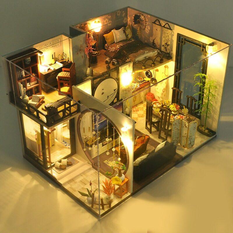 H13ab002419664f3f9ee293958ff6c983hBamboo Shadow DIY Miniature House Kit