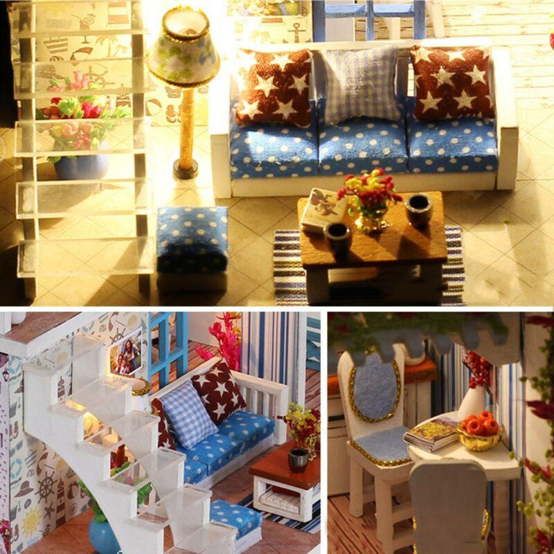 H17dbc0db4f944bfda12d393d33f9edddUSeaview Mini DIY Miniature House