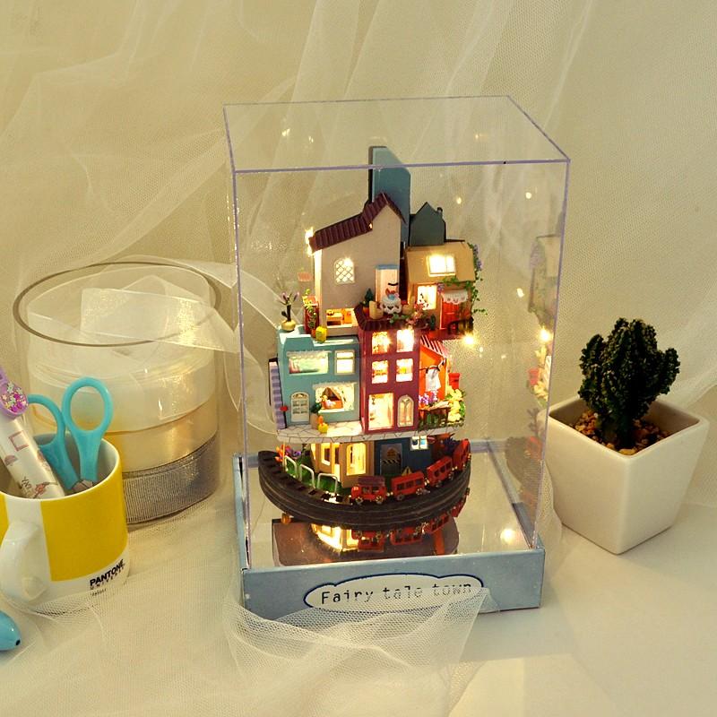H1976a8fe3729471f9a87f6560f1ed62cDFairy Tale Town DIY Dollhouse Kit
