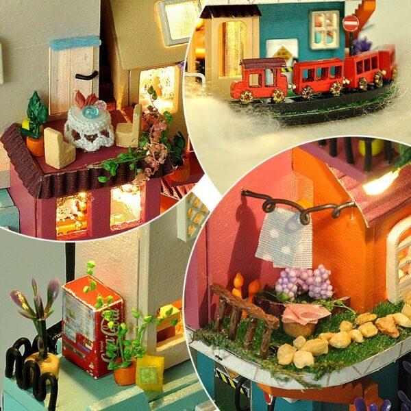 H2cedc712fab44350abf10e83699965aePFairy Tale Town DIY Dollhouse Kit