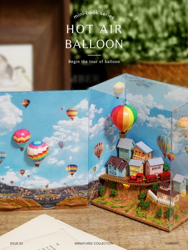 H2d07fe6644874c479417f00c7229dbe9e 600x797Hot Air Baloon Mini Book DIY Dollhouse