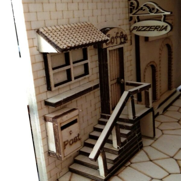 H30a6f9b225b24fb5b111013df154f947lEuropean Town Miniature Book Nook