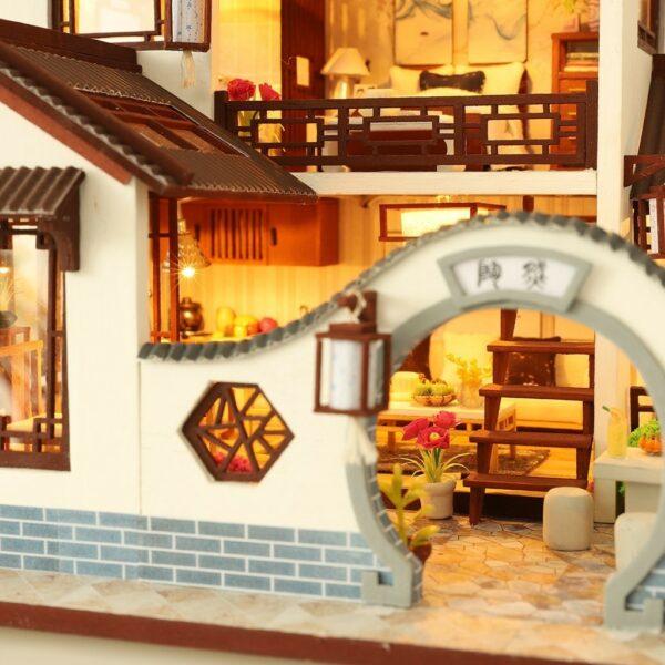 H47081662ce14448eb9f88ae61c9f8e53ULand of idyllic Beauty DIY Dollhouse