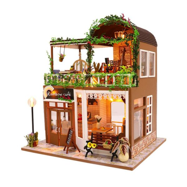 H4aec064df2e441fda284222b3249fdfaXRainbow Cafe DIY Dollhouse White