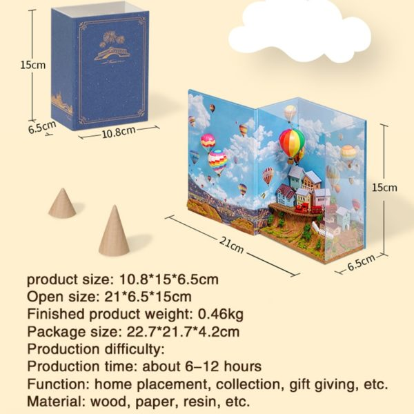 H55fb5440c5714fb989b6b27d005f91f90 1 600x600Hot Air Baloon Mini Book DIY Dollhouse