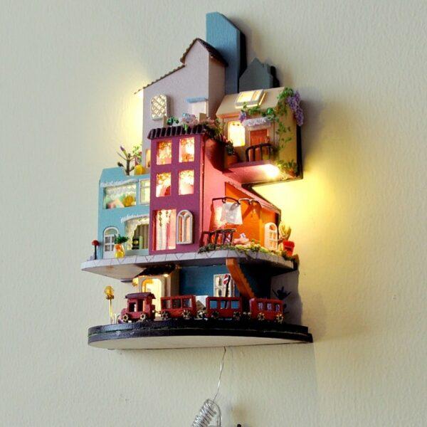 H6473c2ebe9864b2ea05046b5b57ff275AFairy Tale Town DIY Dollhouse Kit