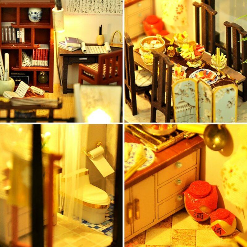 H6c77f6ce8b544402b4b39f95e4c8a930BBamboo Shadow DIY Miniature House Kit