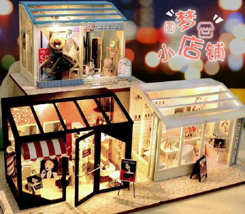 H7a9b5937294242c4bd205da5cf9280f2C 1Fashion Shop DIY Miniature Boutique Kit Manicure shop