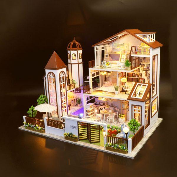 H7d5edab4d2c34bd38df37d5f7b8380426 600x600Love You All The Way DIY Miniature Dollhouse Kit