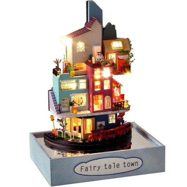H7f1dfb51a7634de1bb1b7ef26b84a35alFairy Tale Town DIY Dollhouse Kit