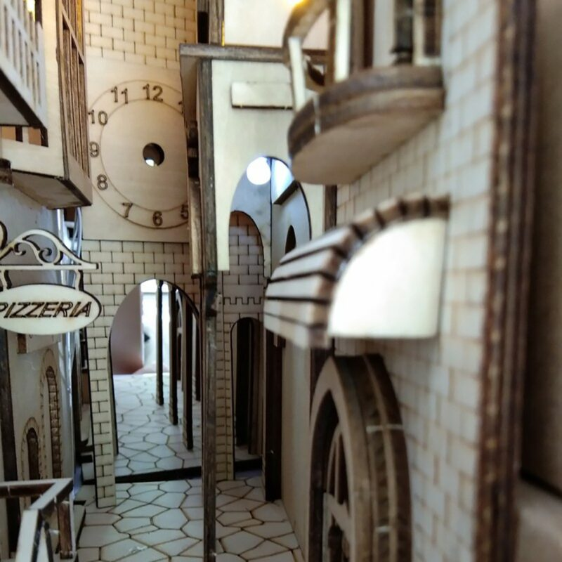 H84820ba7400648738e11963832e21c05WEuropean Town Miniature Book Nook