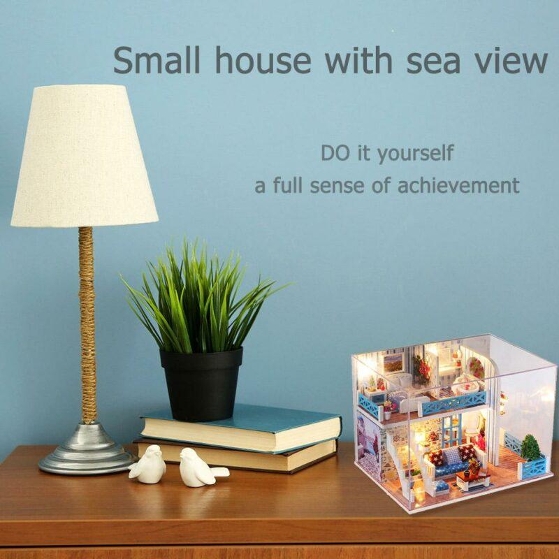 H88365b1f3a8b461e8c9d0b3b47ad3be5SSeaview Mini DIY Miniature House
