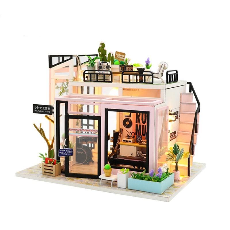 H95840f9b46a44bd181eff2aa8eb02545hTime Studio DIY Dollhouse