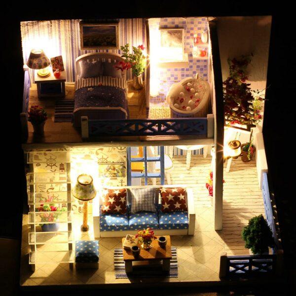 H96e4520a9eda46dd92287c1d14502884SSeaview Mini DIY Miniature House