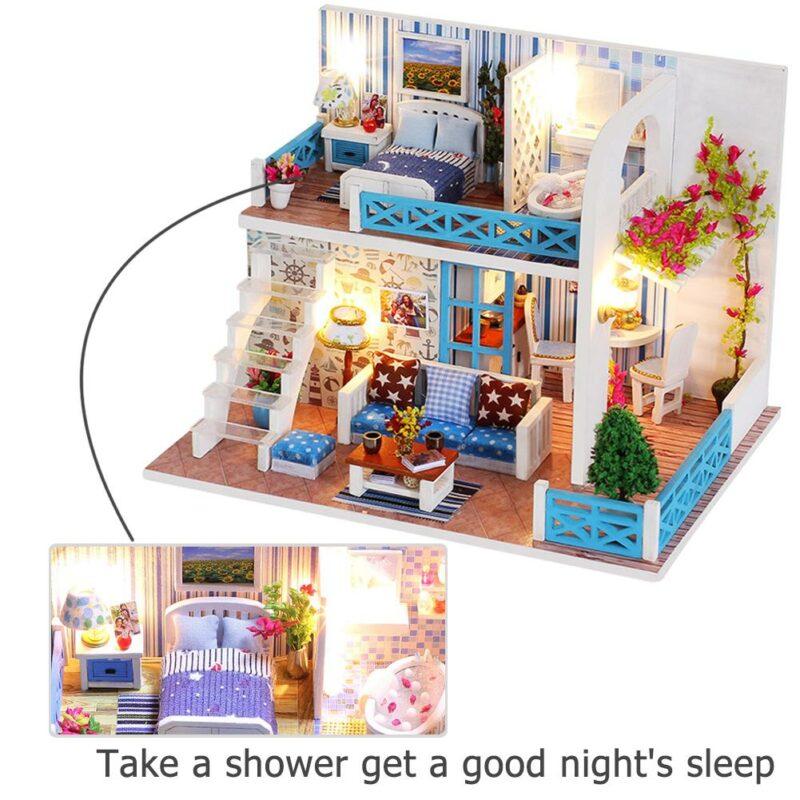 H9ac44dcd47d2408cbba4d2f1f721e5d2cSeaview Mini DIY Miniature House