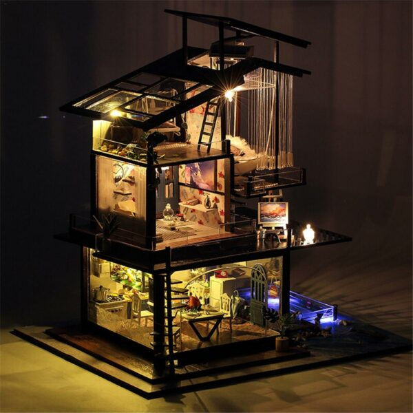 H9e2d42010b46486eb2f5cc1edbb4f1dbHCottage Valencia Coast Villa DIY Dollhouse